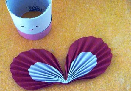 卫生纸筒手工制作小蝴蝶