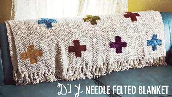 手工编织毛毯与羊毛毡的完美搭配