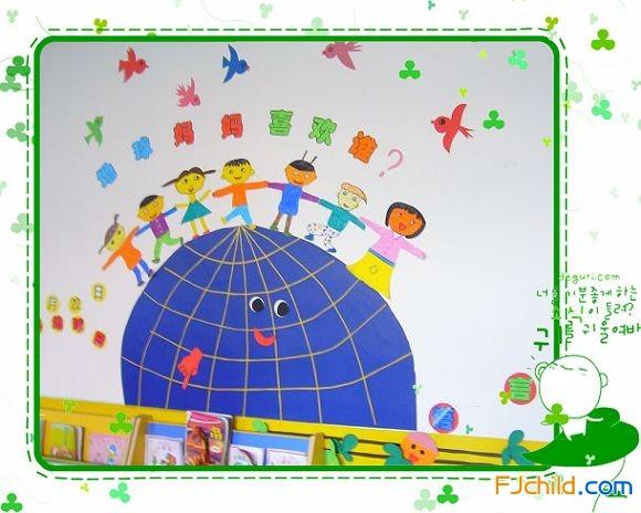 同安莲花中心幼儿园大班 我爱地球 主题墙 地球妈妈喜欢谁