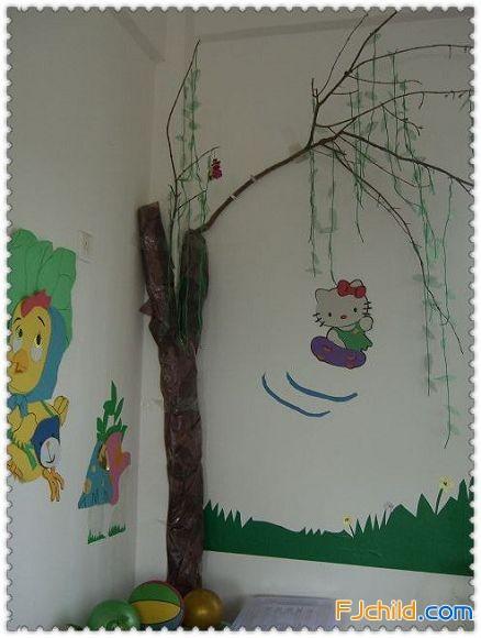 厦门市同安区栋佐幼儿园主题墙饰:柳树发芽