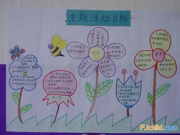 长泰县实验幼儿园中班主题环境:彩色世界