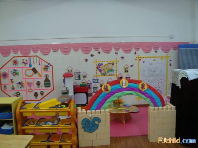 集美区后溪中心幼儿园主题墙饰(多图)