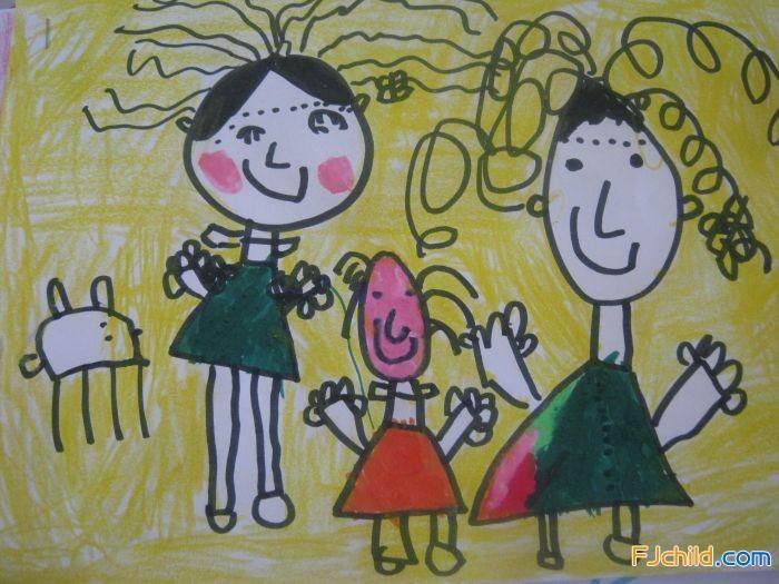 中班幼儿绘画作品