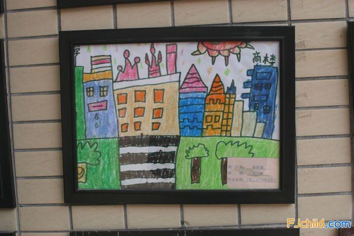 福州市鼓楼区菁华幼儿园幼儿作品展示墙