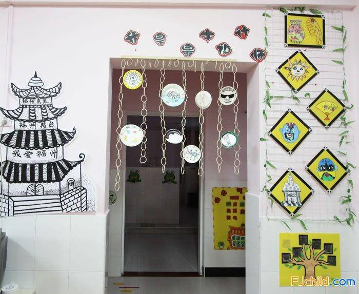 最牛的牛牛设计师,将幼儿画配上边框,加上创意盘子吊饰以及手绘的