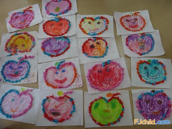 莲花幼儿园粘贴画 可爱的苹果