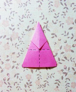 手工制作 折纸空心五角星教程图片
