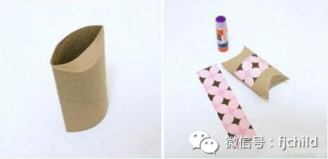 手工制作:卷纸硬纸筒diy礼物包装