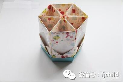 手工制作 折纸笔筒图片