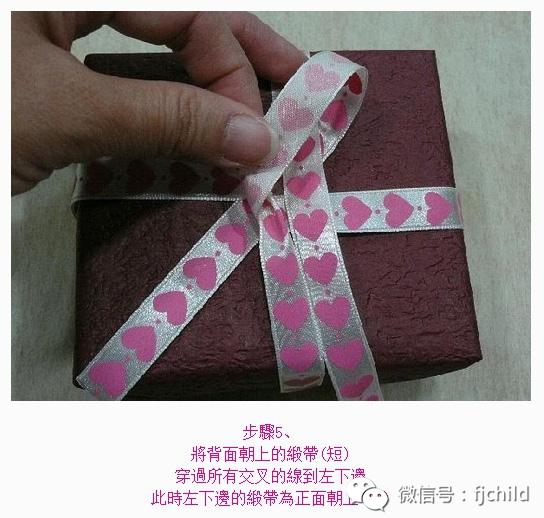 手工制作:十字蝴蝶结丝带系法教程